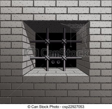 Clipart Vector of Prison.