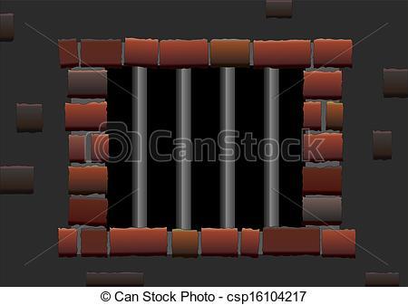 Vector Clip Art of Jail Bars.