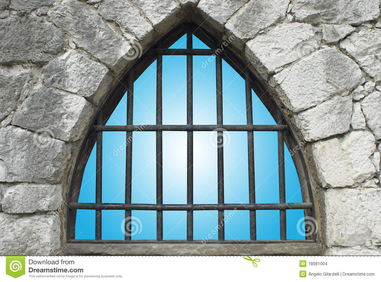 Barred Window Stock Images.