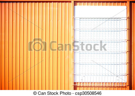 Stock Photo of Portacabin with barred windows.