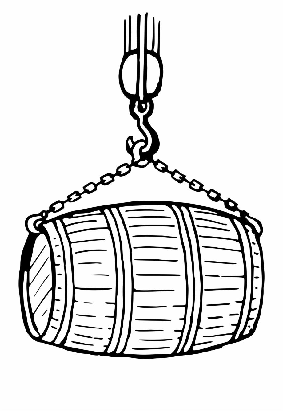 Barrel Clipart Black And White.