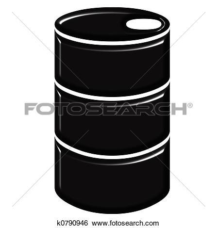 Stock Illustration of Gold oil drum k5732489.