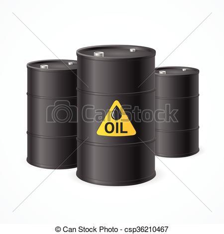 Clip Art Vector of Oil Barrel Drums. Vector.