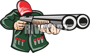 Double Barrel Shotgun Clipart.