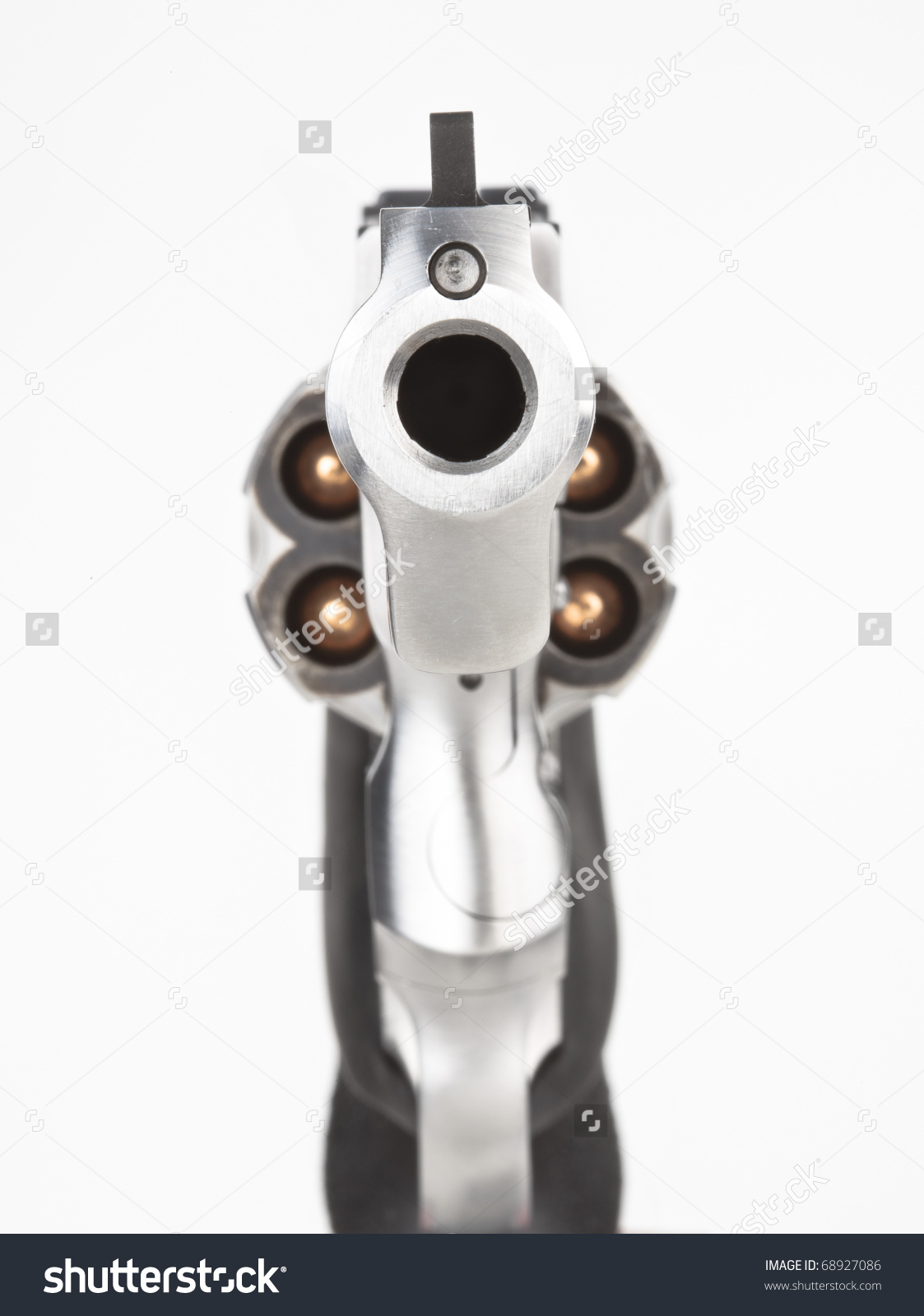 Looking down the barrel of a gun clipart.