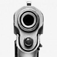 Looking down the barrel of a gun clipart.