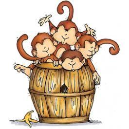 monkeys in a barrel.