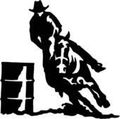 Rodeo Barrel Racing Clipart.