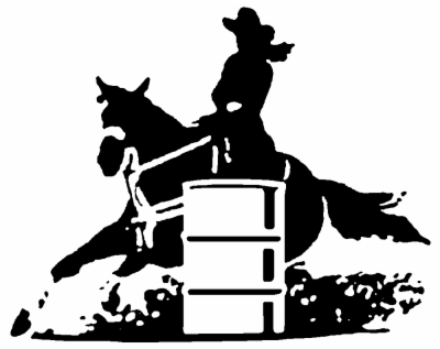 barrel racing , Free clipart download.