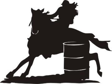 Free Barrel Racing Silhouette, Download Free Clip Art, Free.