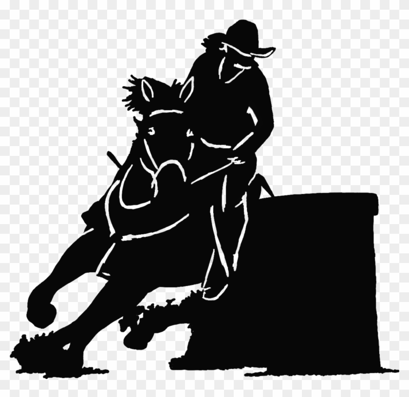 Barrel Racing Horse Silhouette Image Horse Png File.