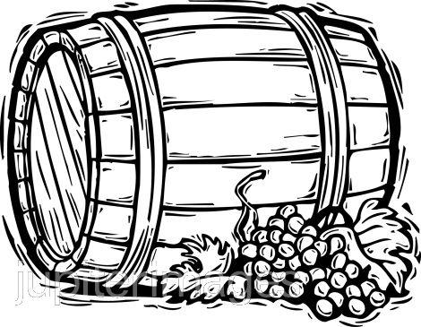 Wine barrels clipart.