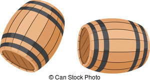 Vector Clip Art of Barrel of gunpowder on a white background.