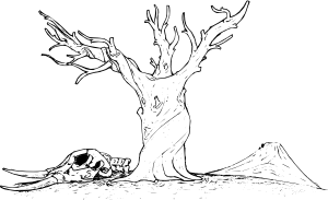 Barren tree clip art.