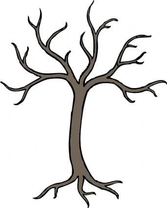 Bare Dead Tree clip art free vector.