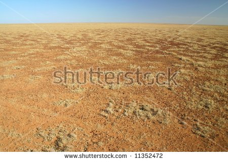 View Over The Barren Land With Horizon. Oodnadatta Track, South.