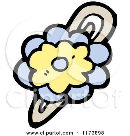 Cartoon of a Flower Hair Barrette.