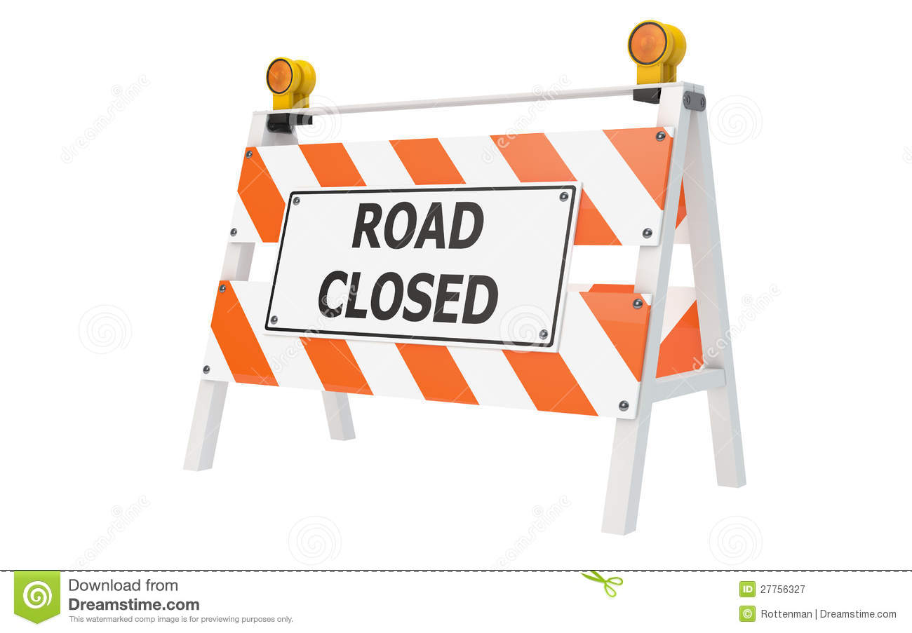 Road Closed Clipart.