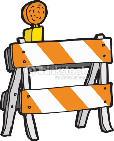 Construction barricade clipart no background.