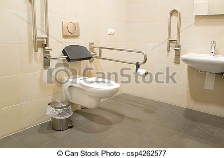 Picture of bathroom for disabled people.