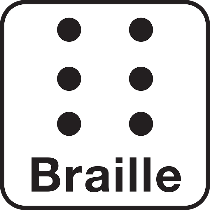 Free vector graphic: Braille, Barrier.
