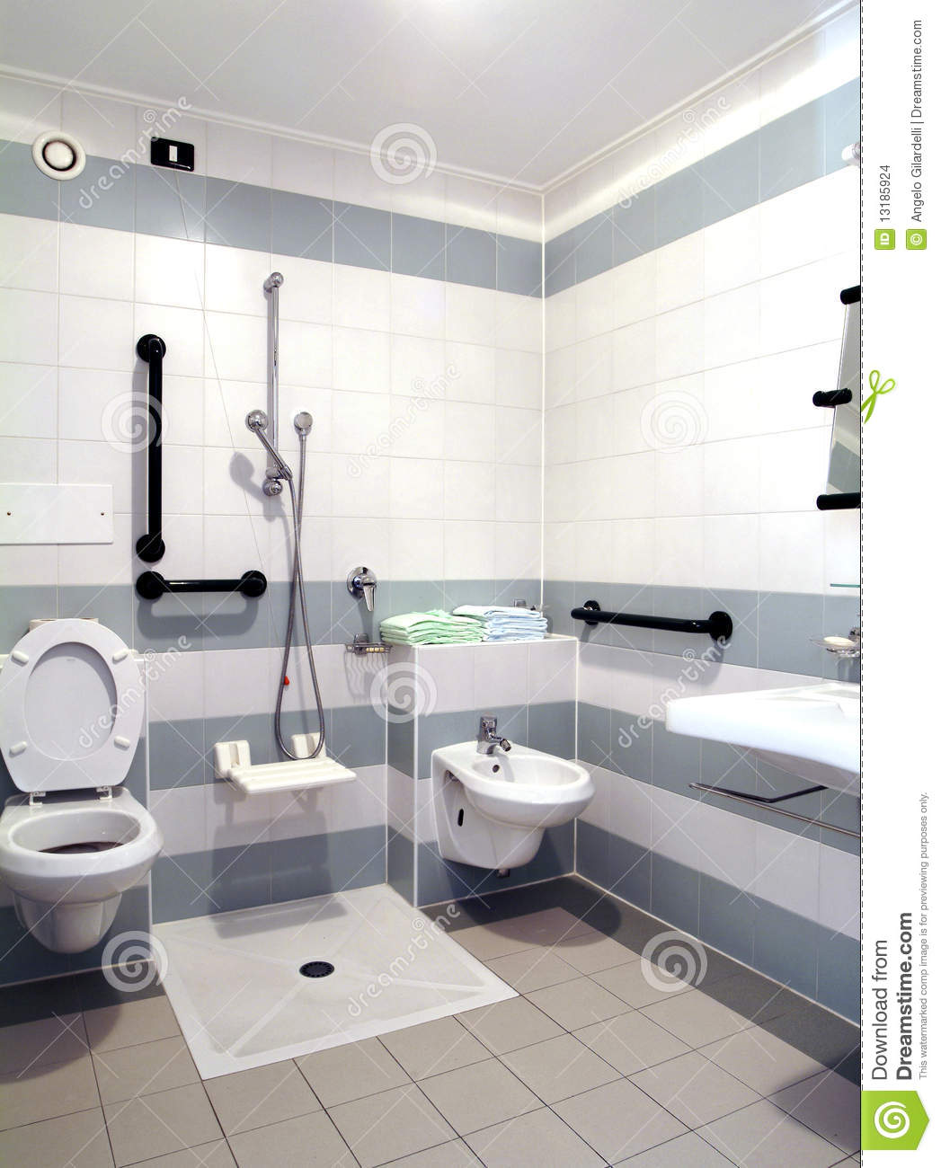 Barrier Free Bathroom Stock Images.