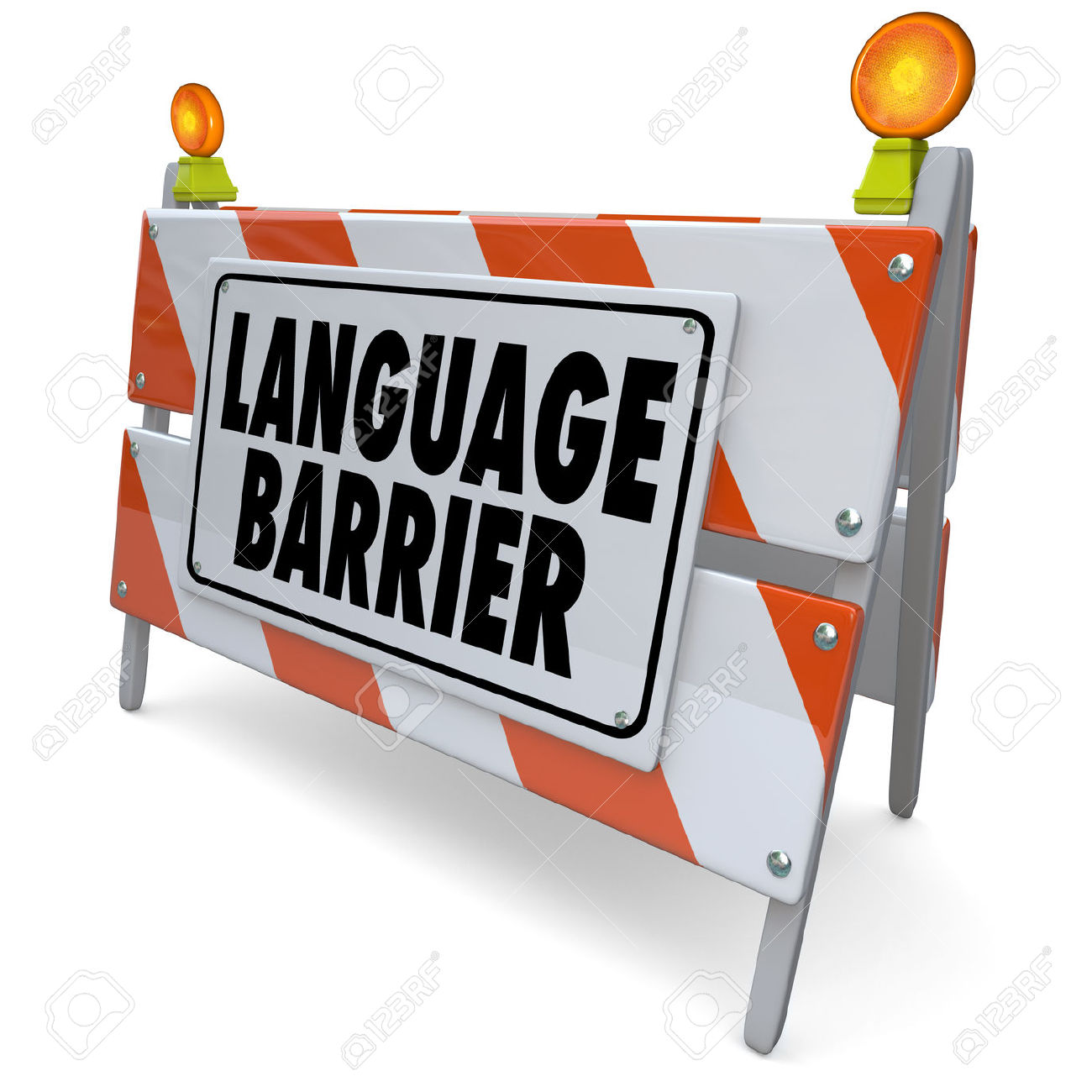 Communication barriers clipart.