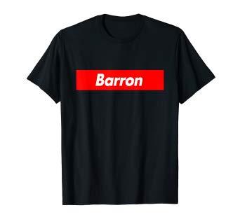 Amazon.com: Barron Name Red Box Logo Funny T.