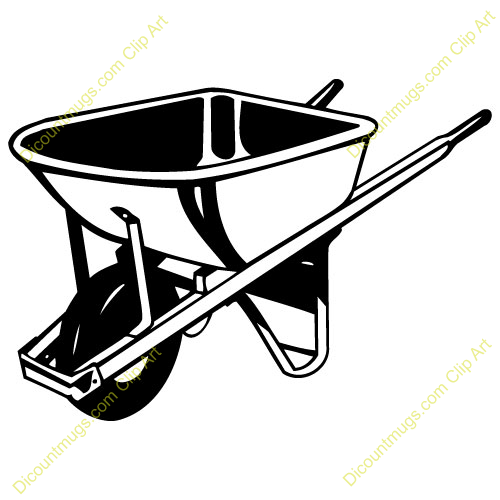 Wheel barrow clip art.