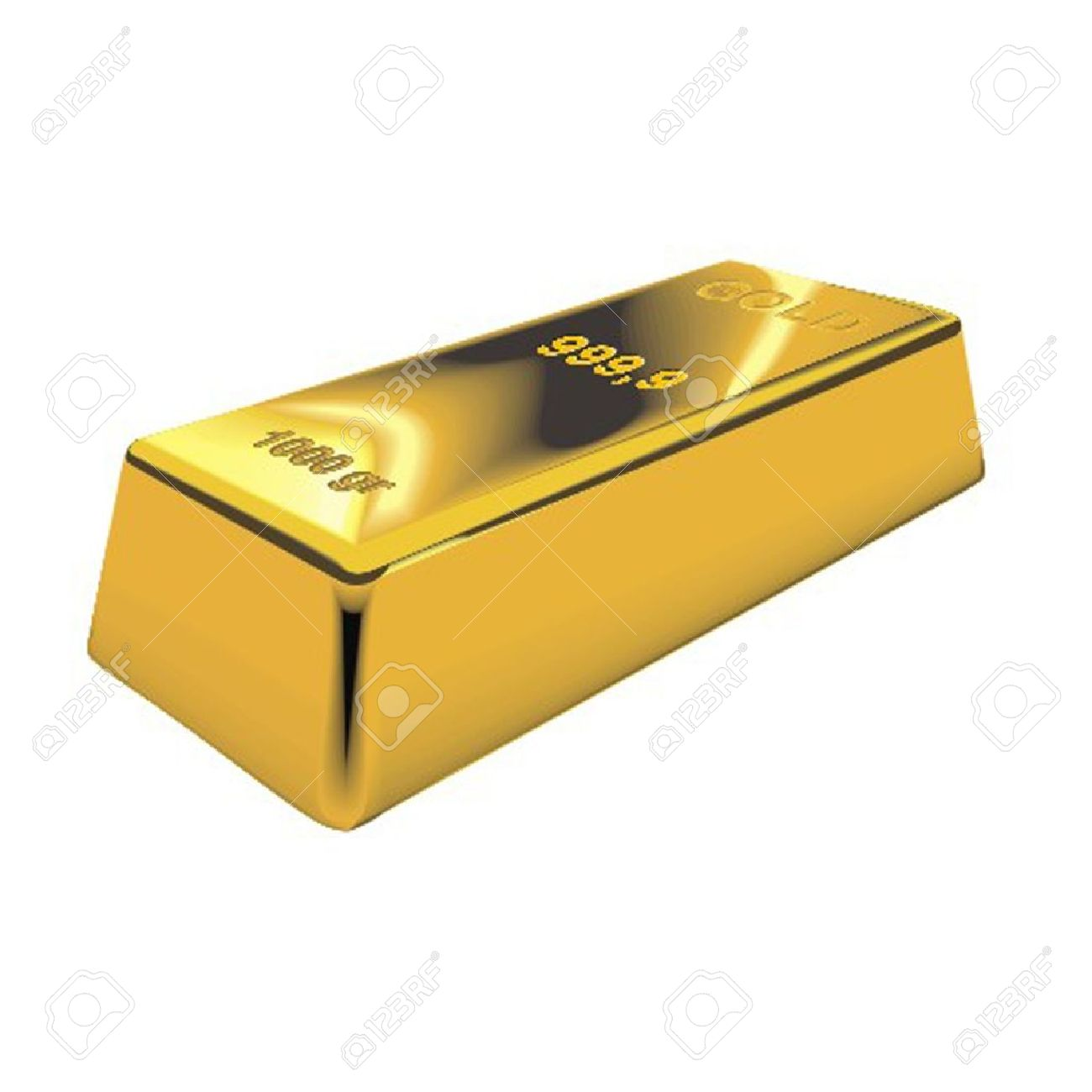 Gold bar clipart free.
