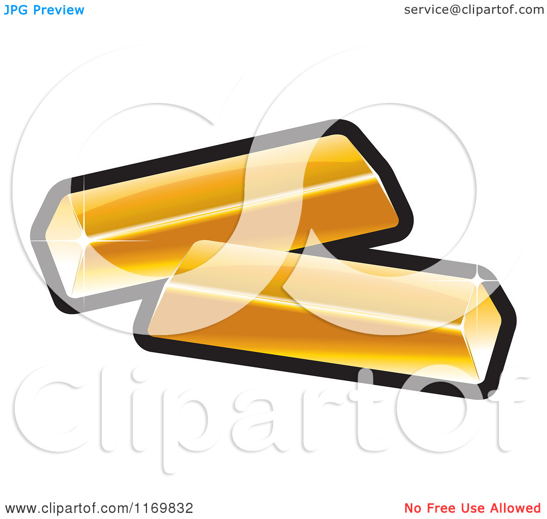 Clipart of Gold Bars.