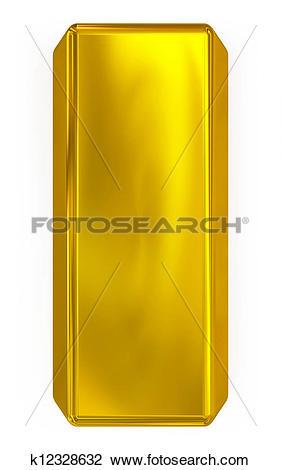 Clip Art of gold bar k12328632.