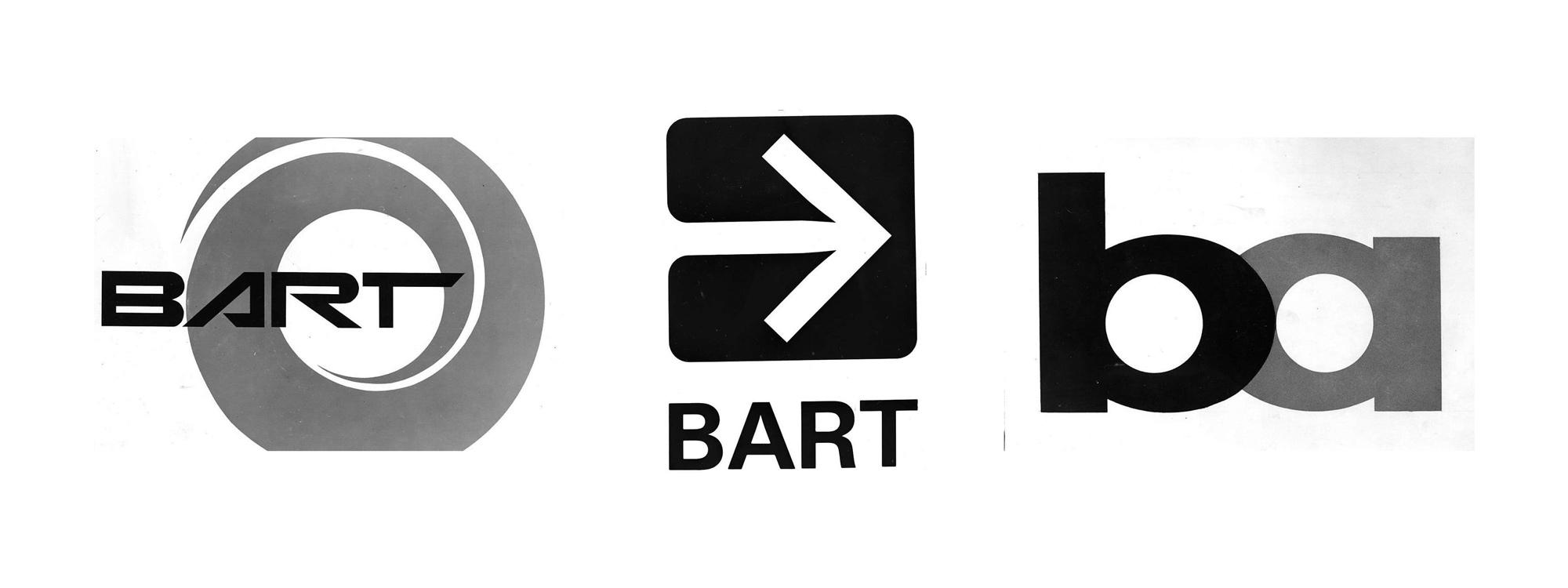 Brand New: Original BART Logo Options.