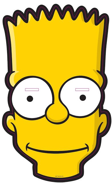Free Bart Simpson Mask.