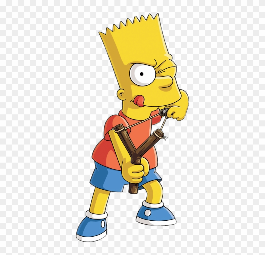 Bart Simpson Shooting A Catapult Transparent Png Stickpng Clipart.