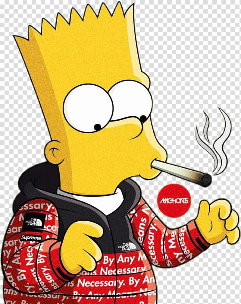 Bart Simpson Homer Simpson Supreme Graphic Designer, Supreme, Bart.