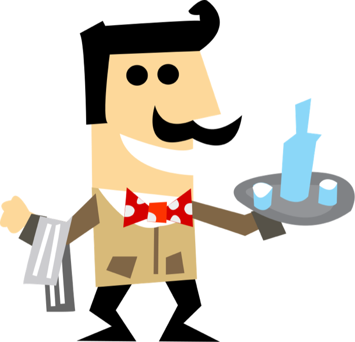Free Clipart of Waiters, Waitresses and Bartenders.
