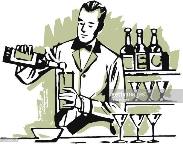 60 Top Bartender Stock Illustrations, Clip art, Cartoons, & Icons.