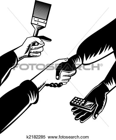 Stock Illustration of Barter trading k2182285.