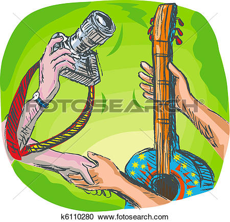 Clip Art of Hands Barter trading or swapping shoes and backpack or.