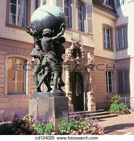 Stock Photograph of Bartholdi Museum, Rue des Marchands. Colmar.