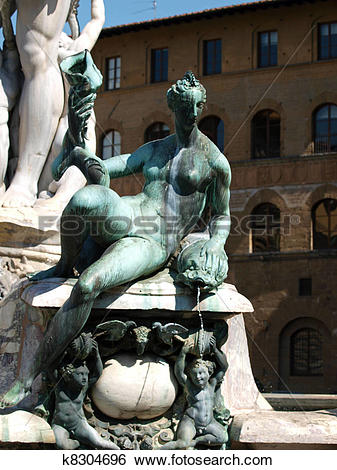 Stock Images of Fountain of Neptune by Bartolomeo Ammannati, in.