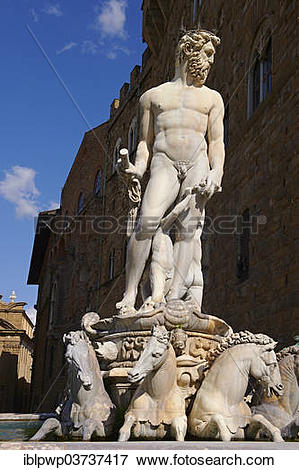 "Picture of ""The Fountain of Neptune by Bartolomeo Ammannati, 1575."