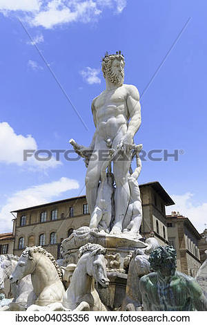 "Stock Images of ""The fountain of Neptune by Bartolomeo Ammannati."