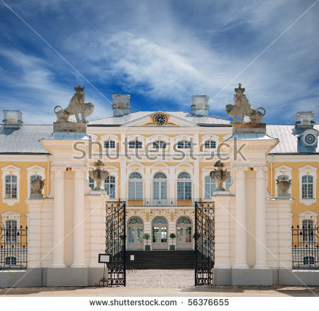 Main Gate Of Rundale Palace, Summer Residence Of The Duke Of.