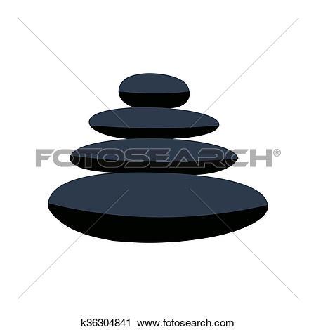 Clipart of Zen basalt stones flat icon k36304841.