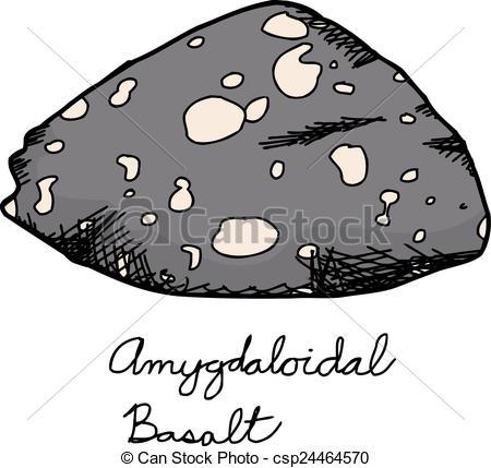 Vectors Illustration of Igneous Basalt Rock Sample.