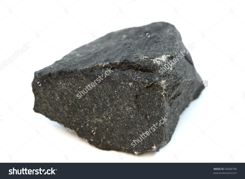 Isolated Sample Rock Basalt Stock Photo 56068798.