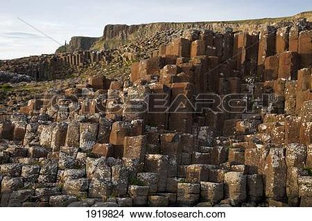 Stock Photo of Natural Basalt Column Rock Formations; Giant'S.