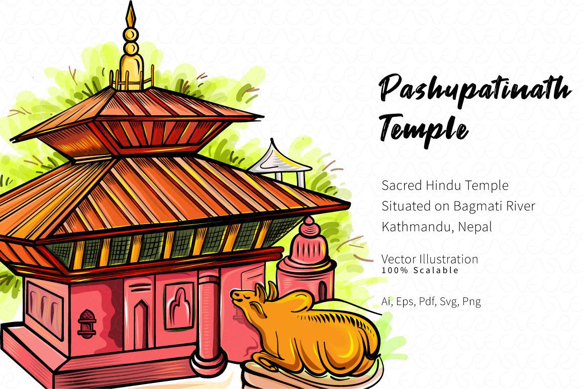 Pashupatinath Temple Vector Illustration Digital Art on Behance.